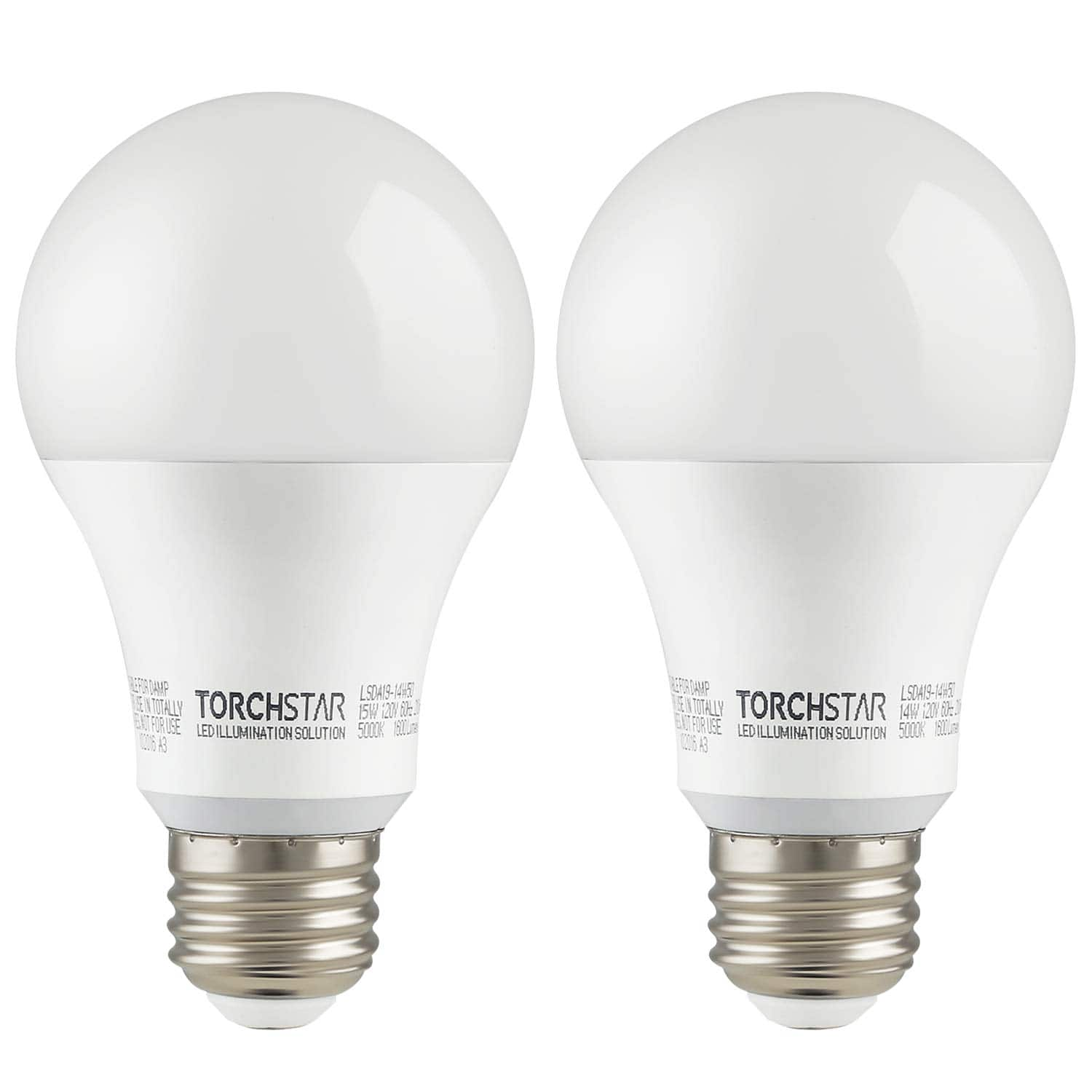 2 Pack/ 4 Pack 15W Anti-interference Garage Opener High Power A19 LED Bulb 5000K - $14.99 + FS