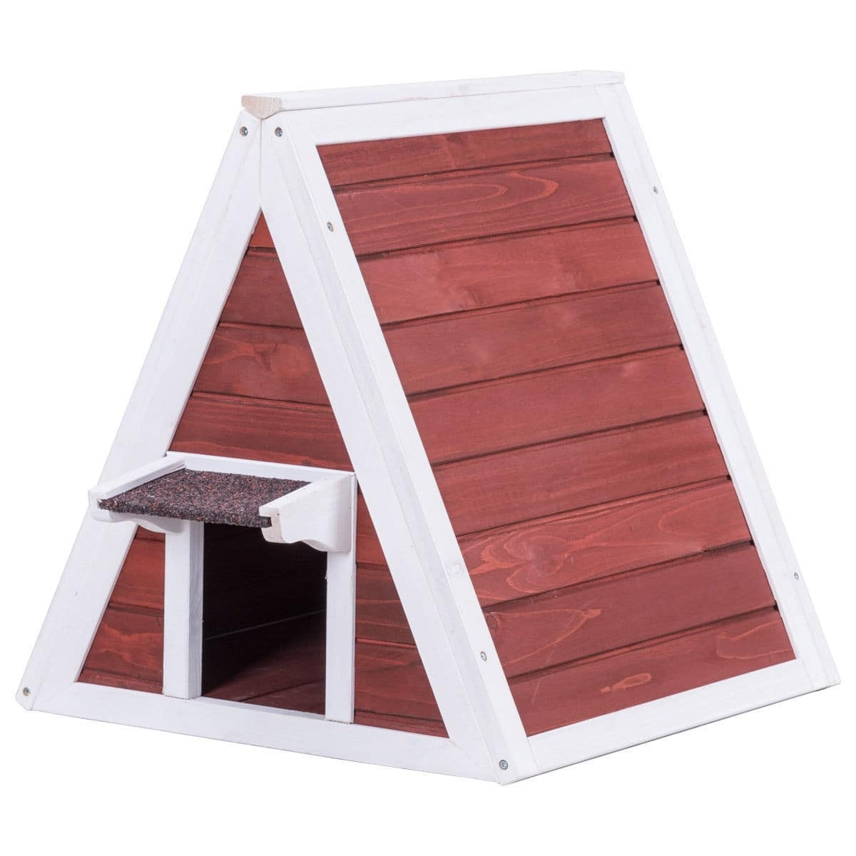 Weatherproof Wooden Cat House Furniture Shelter with Eave-$48.95 + FS