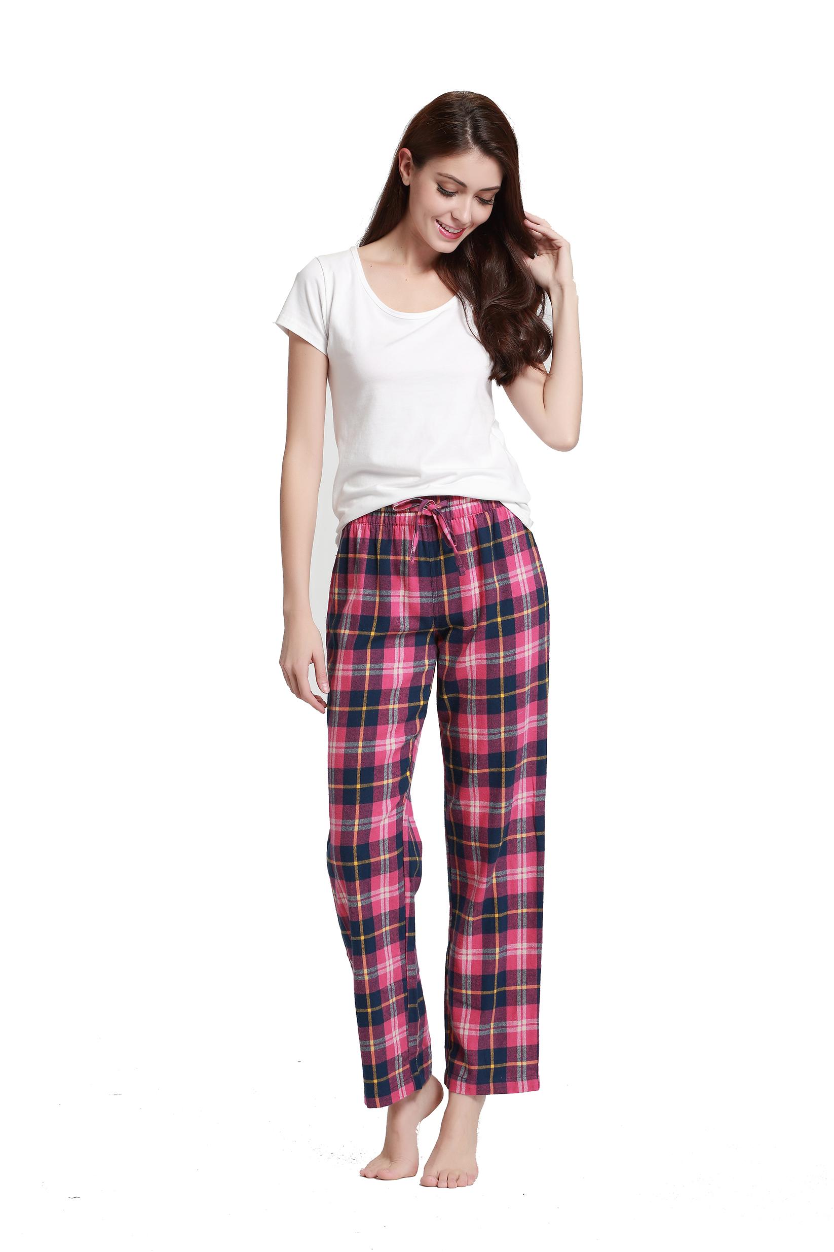 CYZ Women's 100% Cotton Flannel Pajama Pants - $8.99