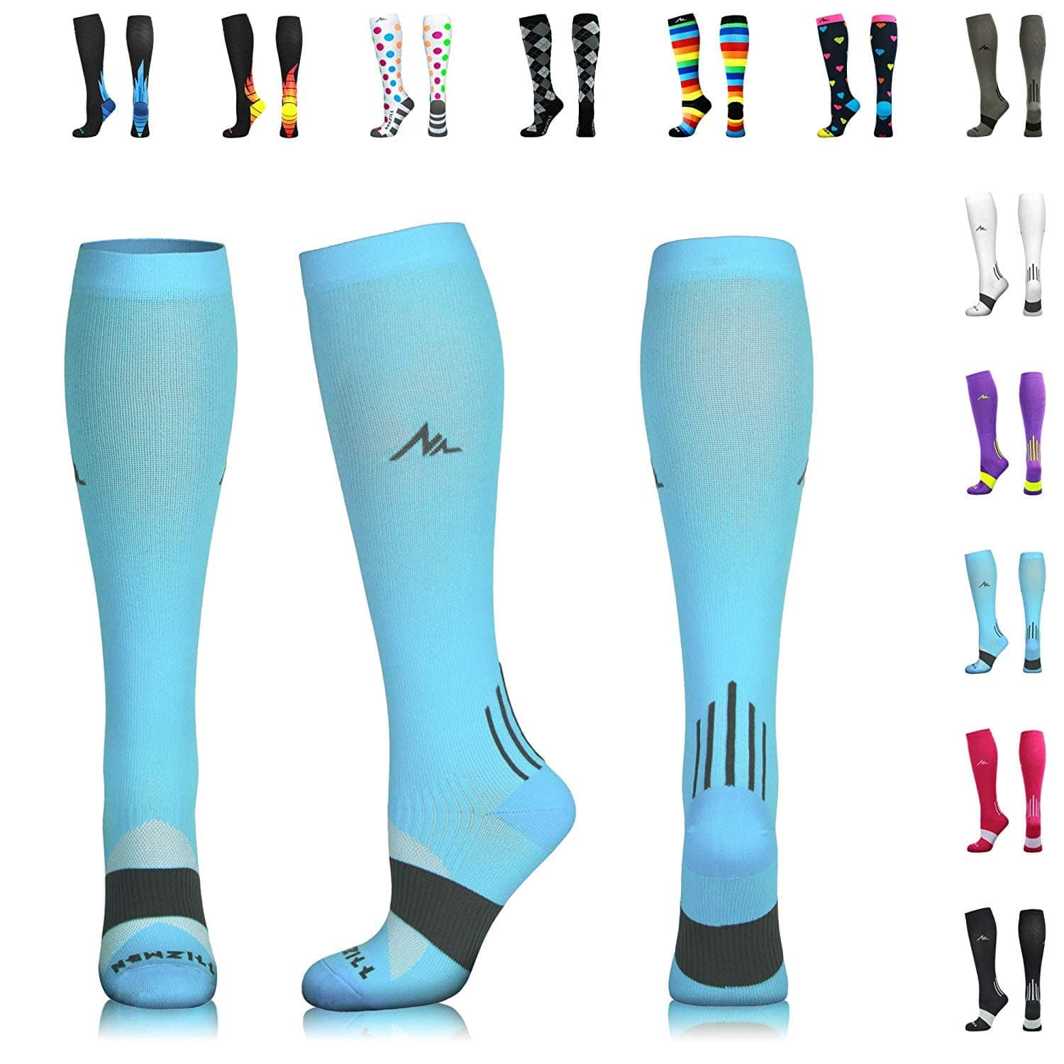 NEWZILL Compression Socks for Men & Women 20-30mmHg (U.S Olympic Fencer Recommend) $7.19 + FS w/PRIME