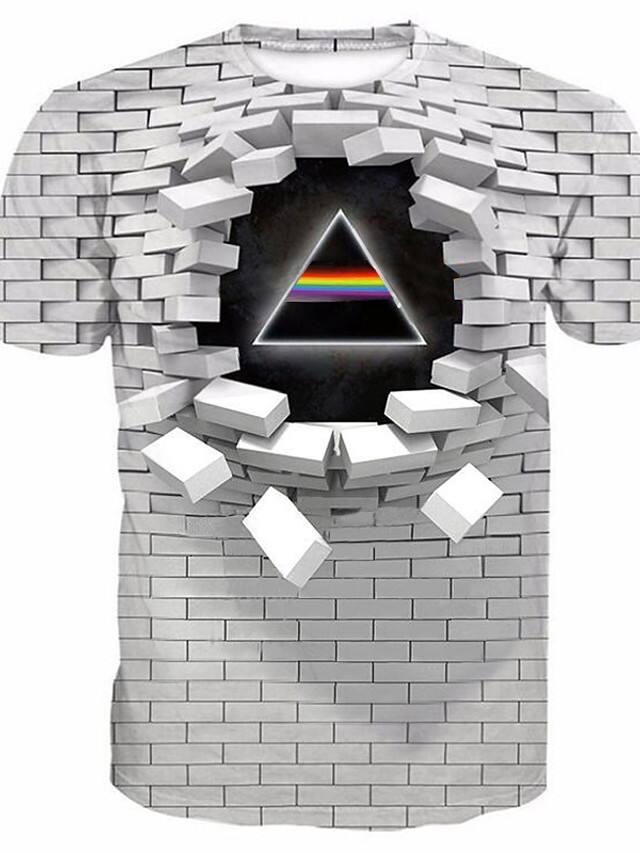 Men's 3D Graphic Print Short Sleeve T-shirt (5 Colors) $9.89 + Free Shipping
