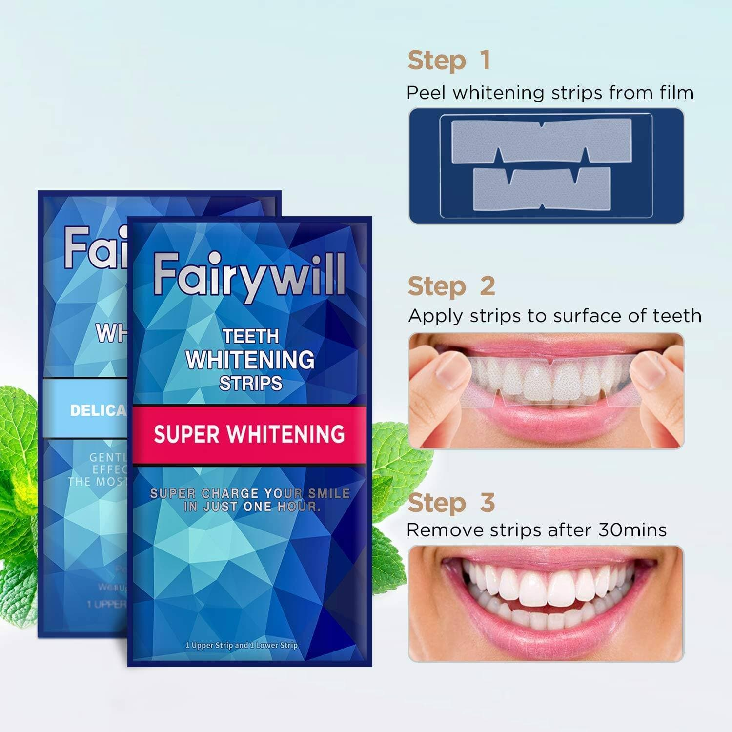 Teeth Whitening Strips for Sensitive Teeth-Reduced Sensitivity and Gentle and Safe for Enamel $12.49 + FS w/PRIME