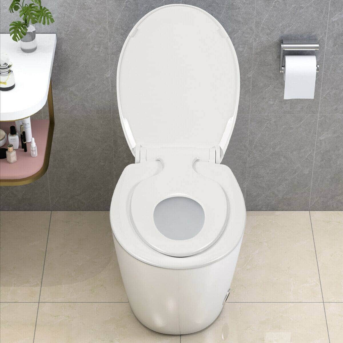Toddlers & Adult Round Toilet Seat with Built-in Potty $27.95 + FS