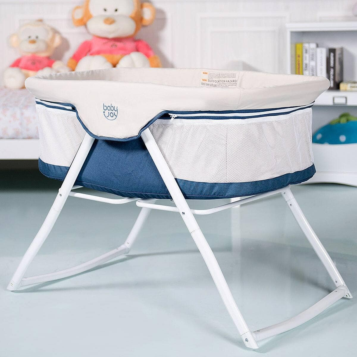 Portable Newborn Rocking Foldaway Baby Crib Bassinet $91.95 + Free Shipping