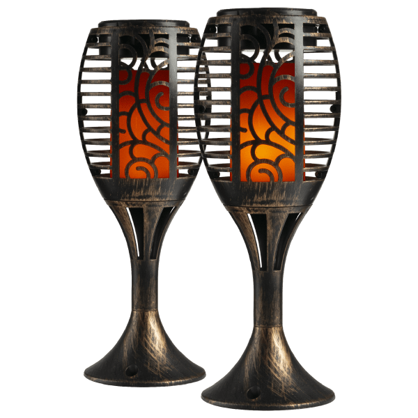 2-Pack: iZoom Flickering Flame Torches with Stand $15