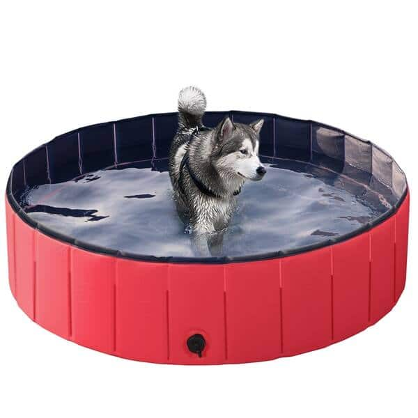 """Foldable Pet Swimming Pool , Red, Large, 47.2"""" $48.99 + FS"""