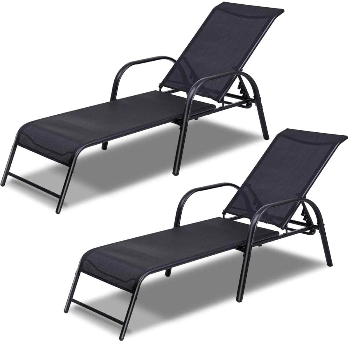 2 Pcs Outdoor Chaise Lounge Chair $199.99 + Free Shipping