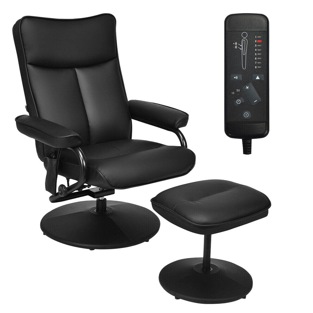 Costway Electric Massage Recliner Chair with Ottoman and Remote Control + $160.95 + FS