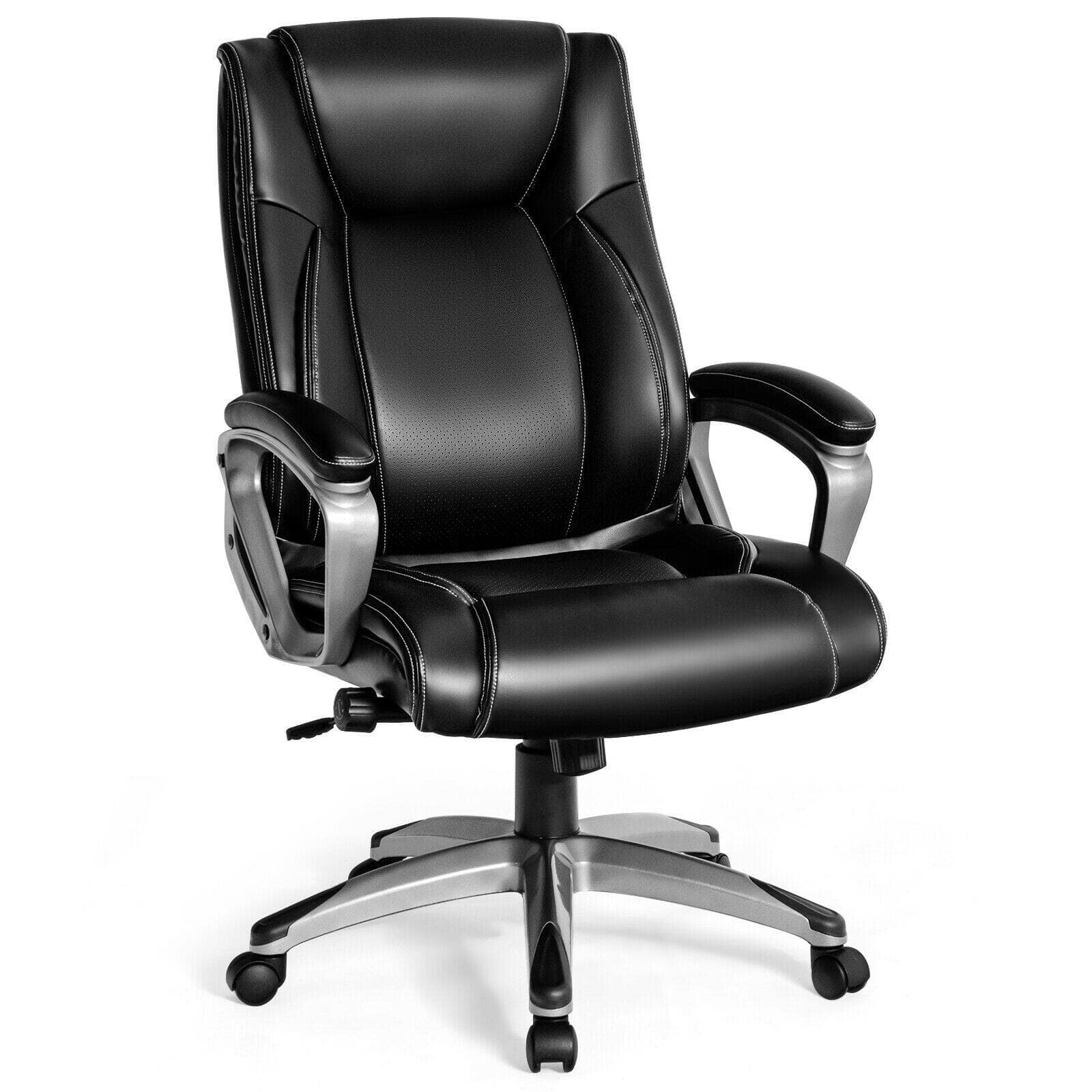 Costway Executive Office Chair Task Swivel Chair with Lumbar Support and High Back + $137.95 + FS