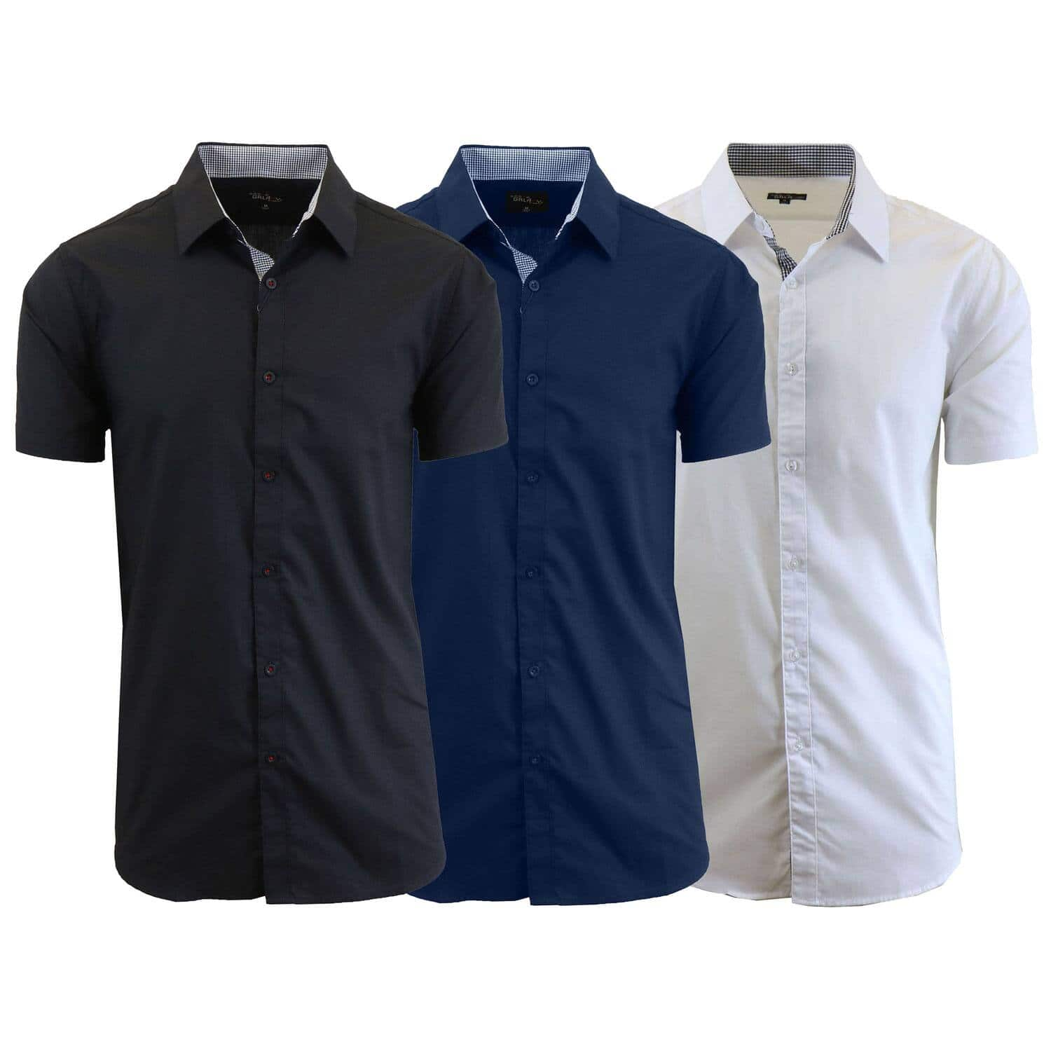 Men's Slim Fit Short Sleeve Dress Shirts (3 pack) - $23.99 + Free Shipping