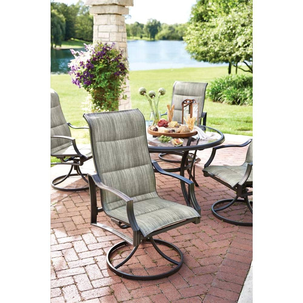 Statesville 5-Piece Padded Sling Patio Dining Set with 53 in. Glass Top $299