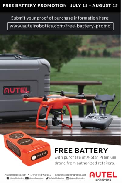 Autel Robotics X-Star Premium (quadcopter drone), Three Total Batteries. $929 + shipping & MIR