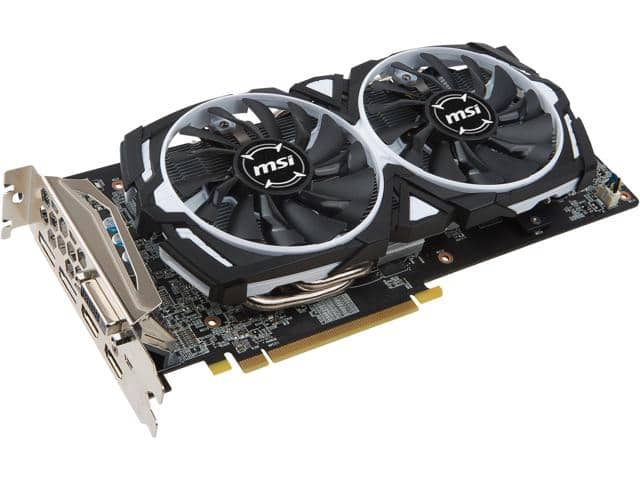 Newegg: MSI Radeon Armor RX 580 4GB Video Card $175 after Masterpass checkout + free S/H
