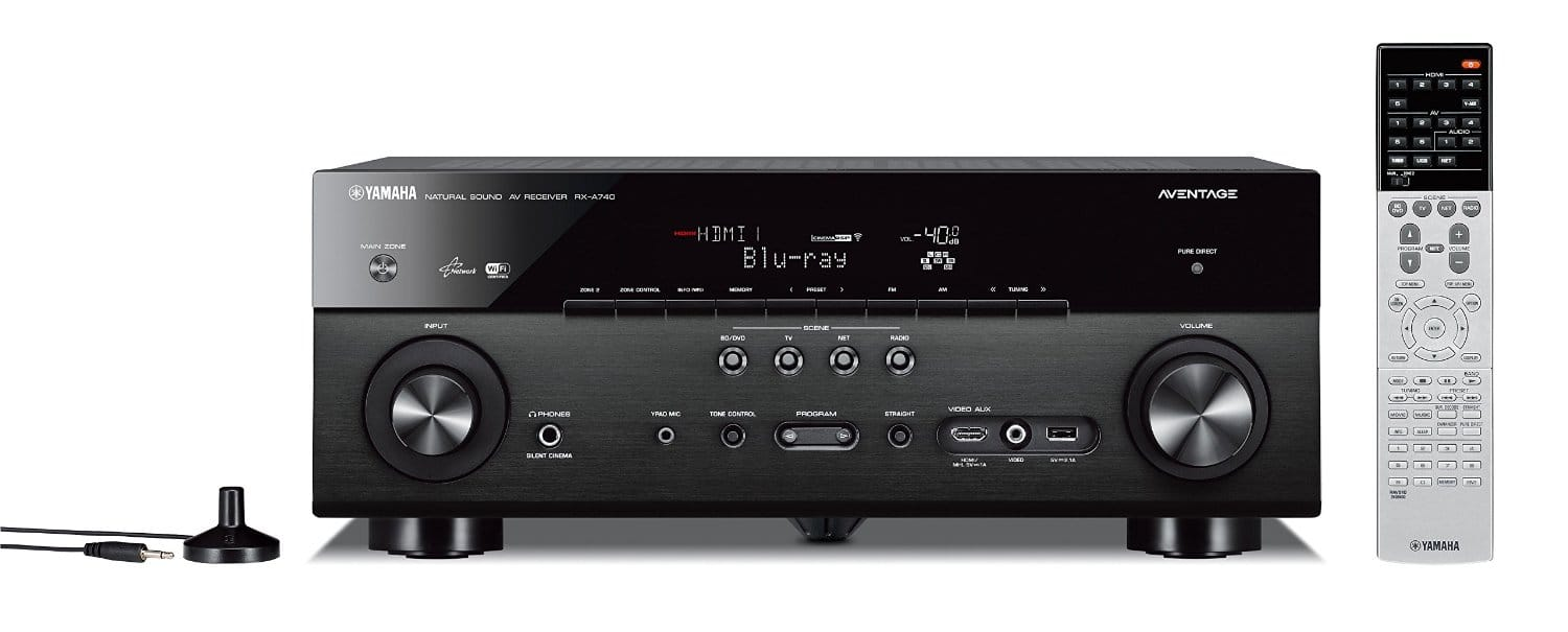 Yamaha Aventage RX-A740BL 7.2 receiver for $199.98. Free shipping @ Best Buy. Save $450