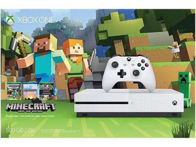 Xbox One S 500GB Console - Minecraft Favorites Bundle (refurbished) for $149.99/free shipping.