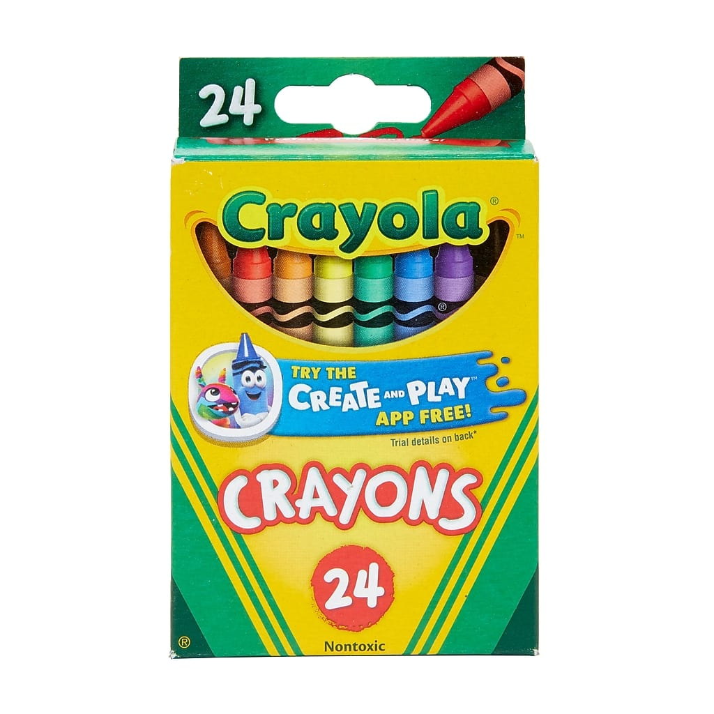 Staples Crayola Crayons, 24 count $0.50