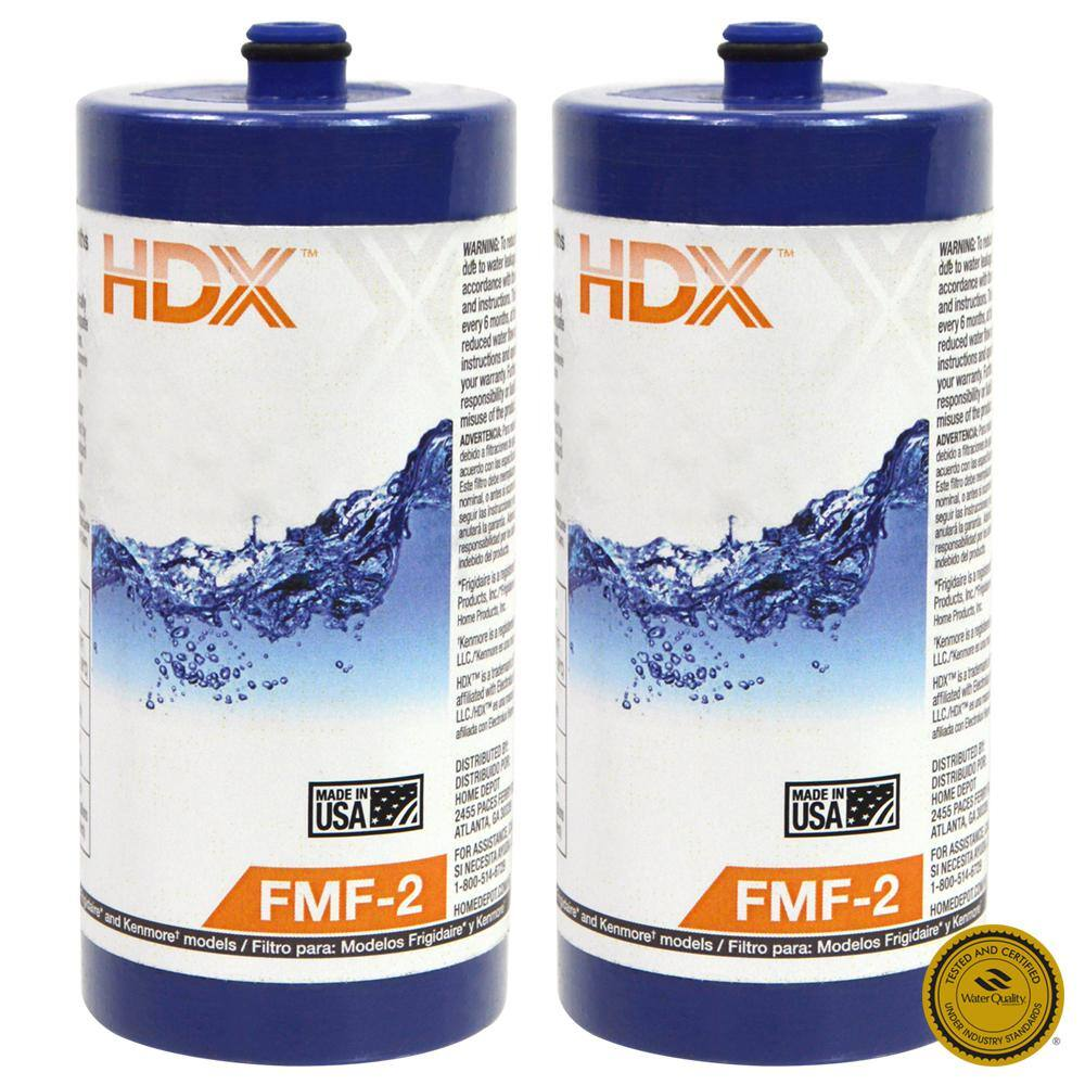 Home Depot HDX Refrigerator Filter Value Packs On Sale - As Low as $24.88 for 2