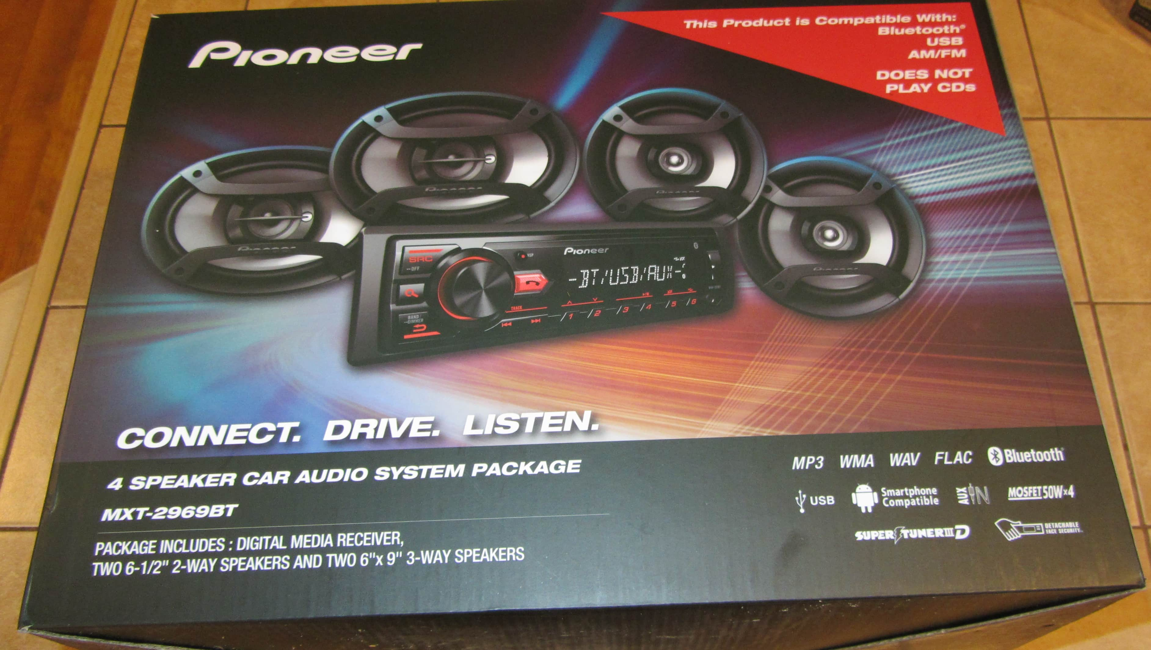 pioneer 4 speaker car audio system package. pioneer mxt-2969bt bluetooth \u0026 digital media car receiver 4 speakers $40 or lower speaker audio system package s