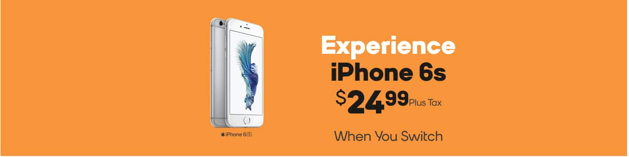Boost Mobile iPhone 6s $24.99 - In Store only