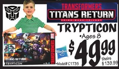 Transformers Titans Return Trypticon $49.99+tax In Store Only @ Ollies Bargain Outlet
