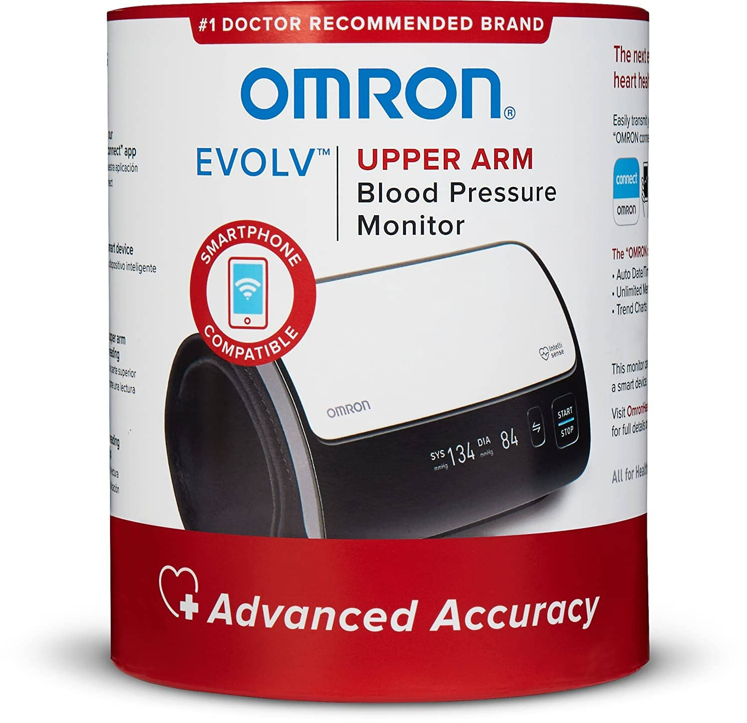 Omron Evolv Wireless Upper Arm Blood Pressure Monitor Cuff @ 6-month low price at Amazon $66.15 $69.99 Best Buy