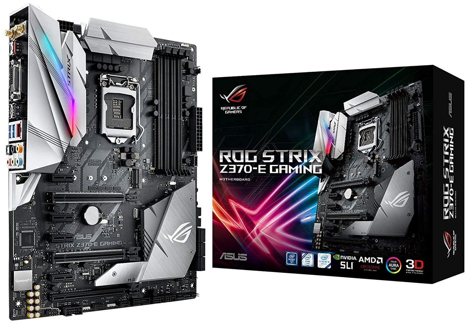 ASUS ROG STRIX Z370-E GAMING LGA1151 DDR4 DP HDMI DVI M.2 Z370 ATX Motherboard with onboard 802.11ac WiFi and USB 3.1 for 8th Generation Intel Core Processors $149.97