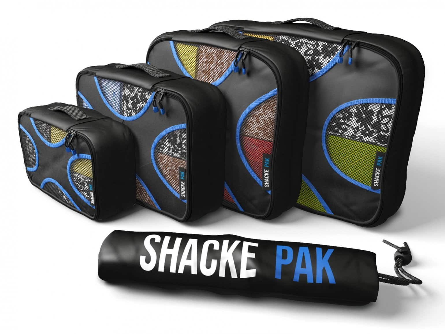 4 Set Packing Cubes with Laundry Bag (Travel Organizers) - By Shacke Pak - 25% OFF @ 21.99