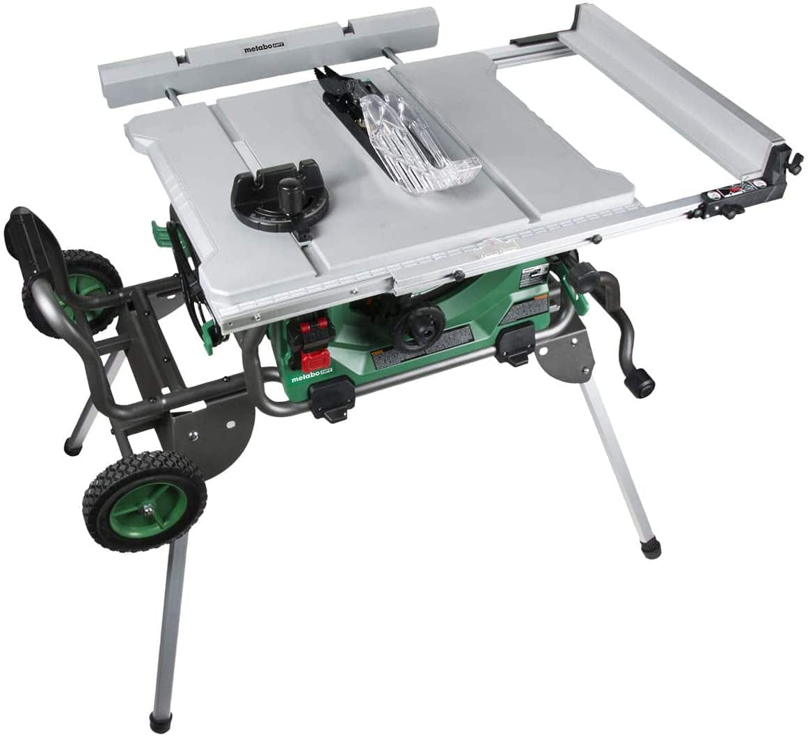 Metabo HPT Jobsite Table Saw, 10-Inch Carbide Tipped Blade, 35-Inch Rip Capacity, Fold & Roll Stand, 8 x 13/16-Inch Dado Capacity (C10RJS) $384.28