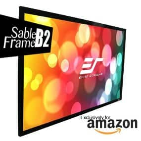 "Elite Screens Sable Frame B2 Series 135"" Fixed Frame Projection Screen for $140, PRIME ONLY @ AMAZON"