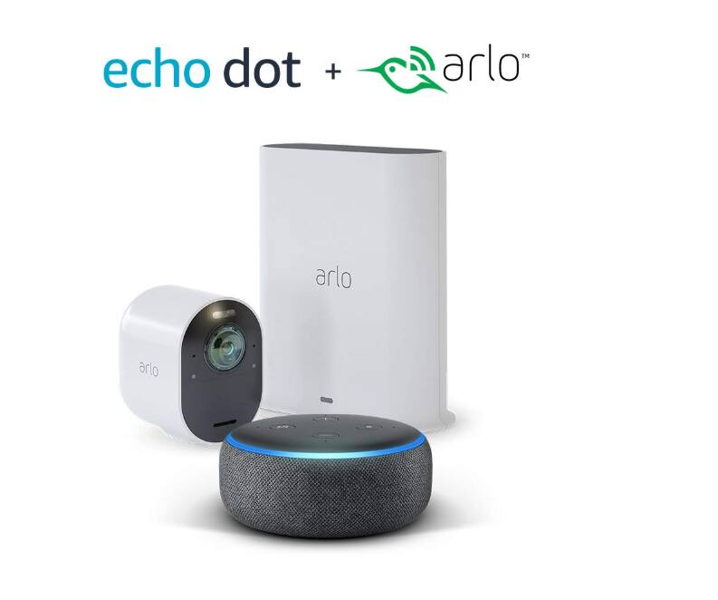 Free Echo Dot or 50% off on the echo show when buy Arlo Ultra Security Camera $399.99