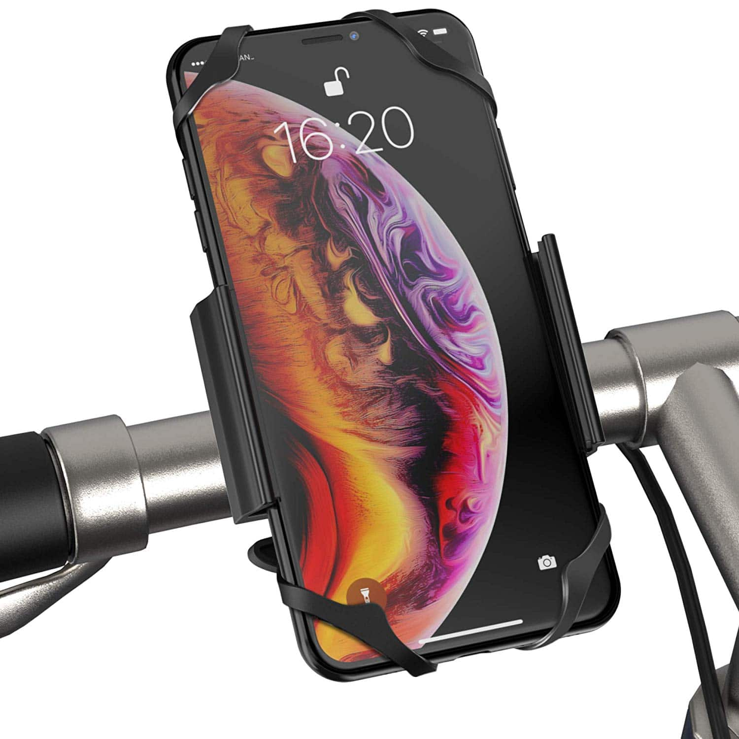 IPOW Bike Phone Mount Holder with 360°Rotation, Strong Metal Base $7.49 AC FS with Prime @ Amazon