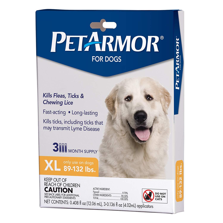3-month PetArmor flea & tick for dogs (89-132 lbs.) $6.99