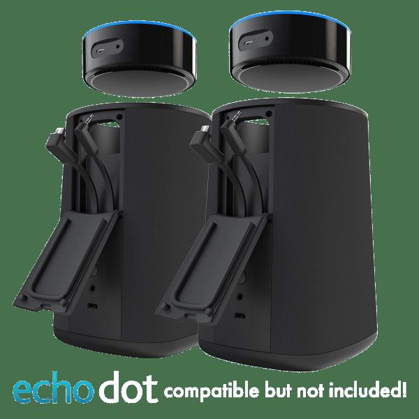 Two Vaux Portable Speakers & Battery for 2nd Gen Echo Dot -  $17