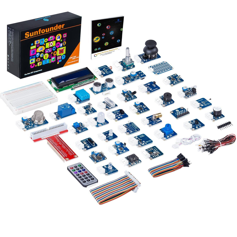Amazon SunFounder 37 Modules Sensor Kit V2.0 for Raspberry Pi 3, 2, Zero & RPi 1 Model B+, A+ 40Pin GPIO Extension Board Jump wires $59.39 AC Free Ship Prime