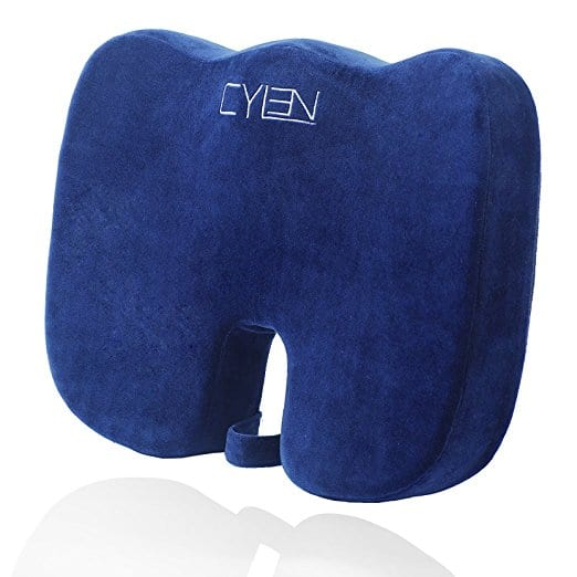 CYLEN Home-Amazon Memory Foam Bamboo Charcoal Infused Ventilated Orthopedic Seat Cushion For Car And Office Chair - Blue $13.75 AC Free shipping Prime