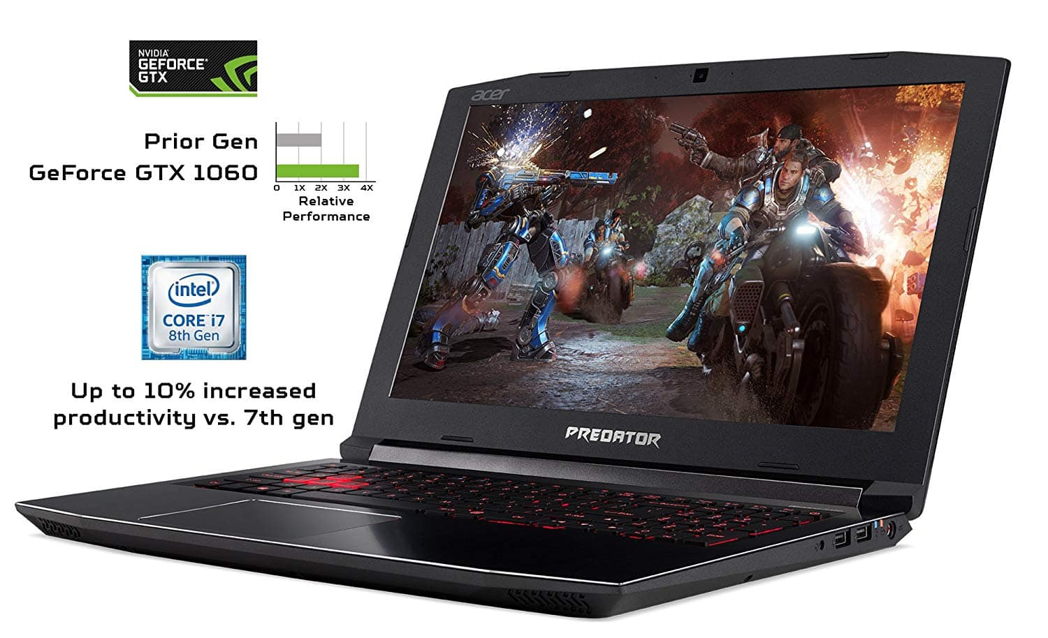 Acer Predator Helios 300 Gaming Laptop $899 for prime members.