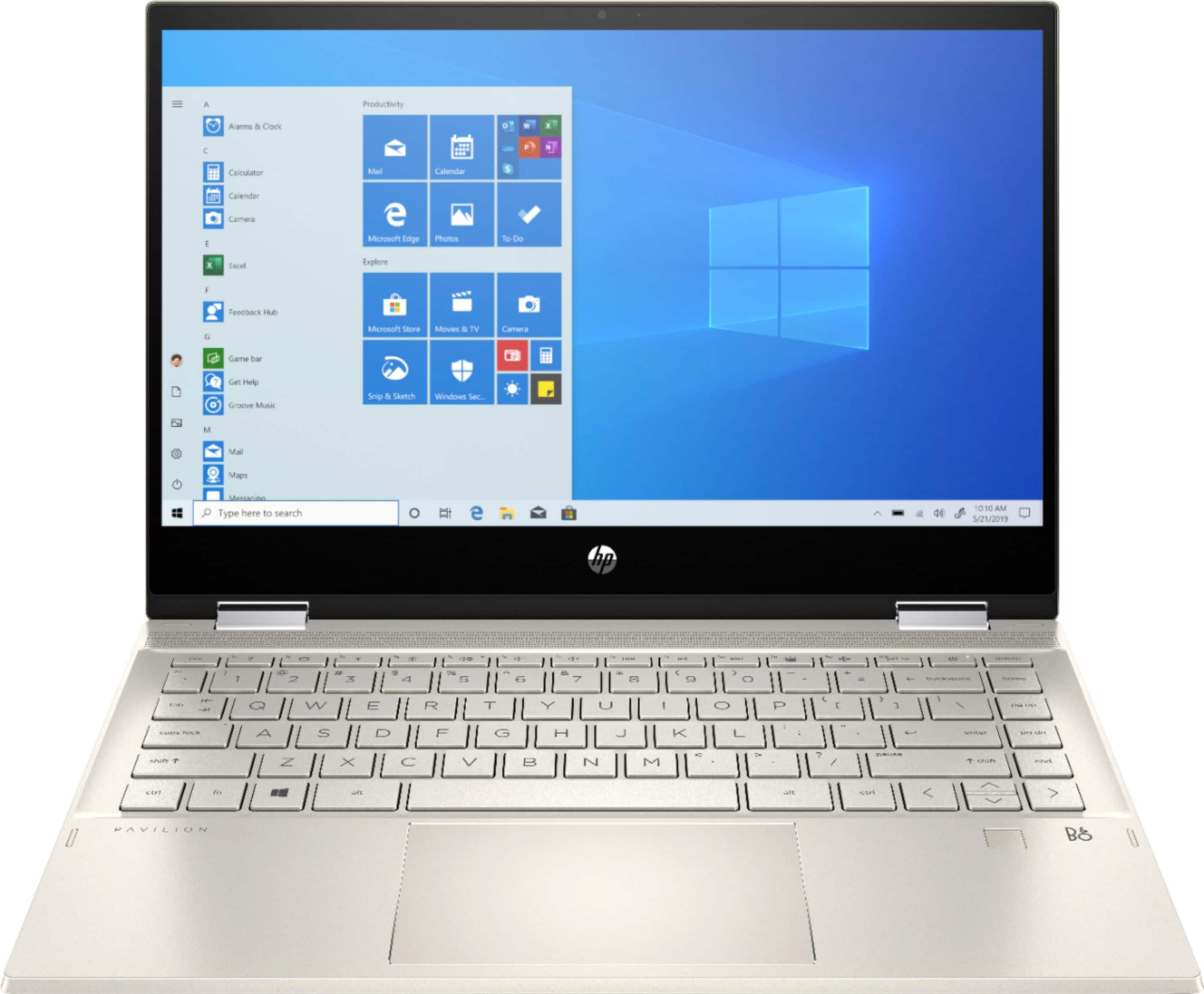 """HP Pavilion x360 2-in-1 14"""" Touch-Screen Laptop Intel Core i5 8GB Memory 256GB SSD Warm Gold 14m-dw1023dx - $549.99"""
