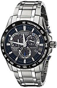 New Citizen Eco-Drive Men's AT4010-50E Titanium Sapphire Perpetual Chrono A-T Watch $263