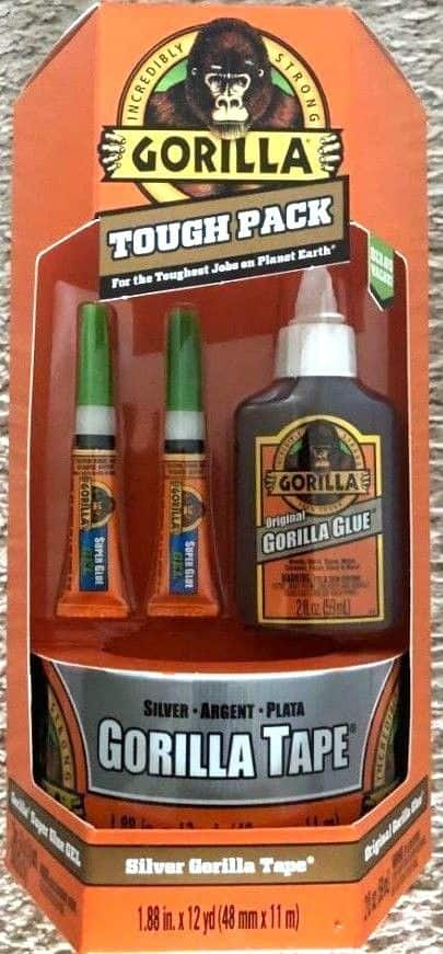 Gorilla Tough Pack - (3) different variety packs available -- As Low As $3.50 YMMV WALMART B&M -- Original/Wood/Super Glue; Black/Silver/Packing Tape