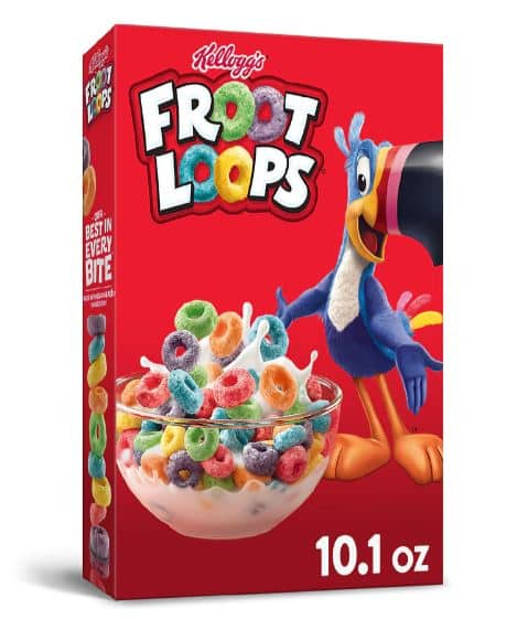 Kellogg's Cereal: Frosted Flakes, Froot Loops, Apple Jacks, Corn Pops (10-13.5oz) or 8-count Pop-Tarts (13.5oz) - $1.38 + Free Pickup