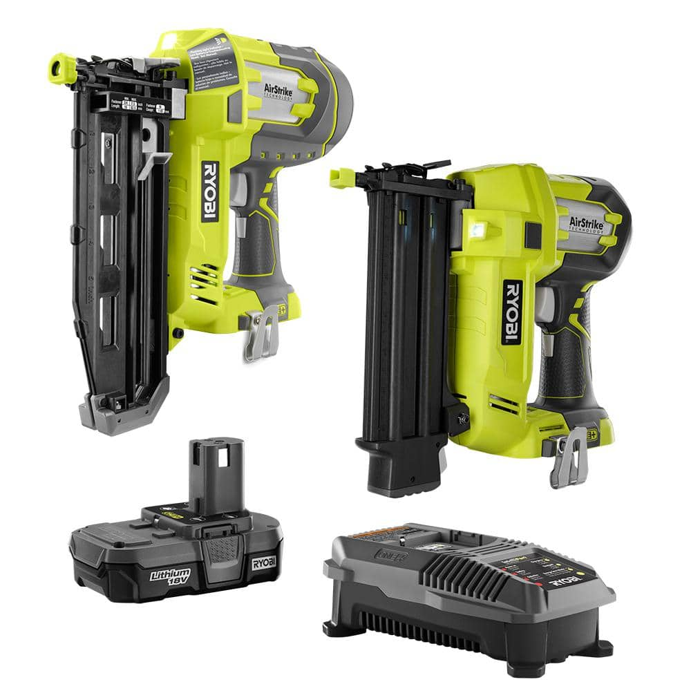 Deal of the Day: 18-Volt ONE+ Lithium-Ion Cordless AirStrike 18-Gauge Brad Nailer and 16-Gauge Straight Nailer 2-Tool Combo Kit (5/21/20) $269