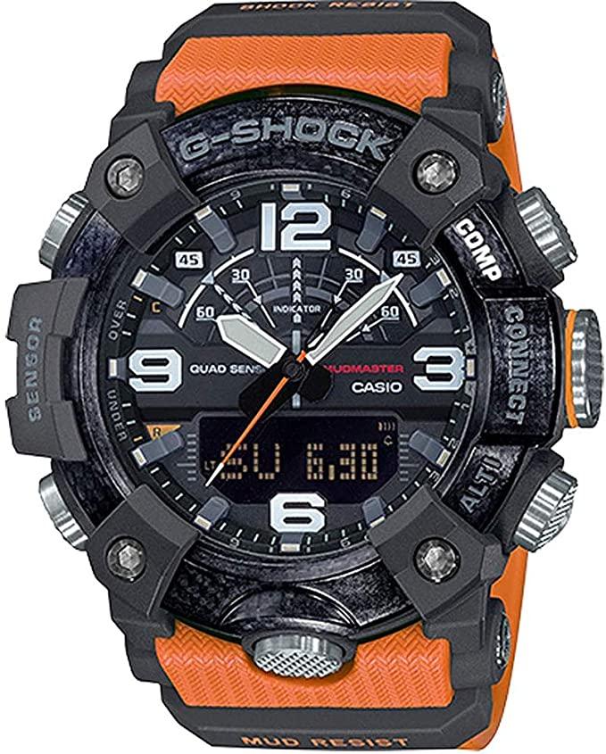 """Casio """"Master of G""""  G-Shock GGB100-1A9 Mudmaster Men's Watch Orange 55.4mm Carbon/Resin $272.2"""