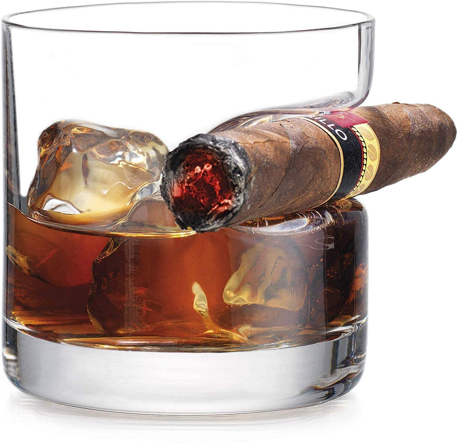 Old Fashioned Whiskey Glass With Indented Cigar Rest $10.74 @ Amazon