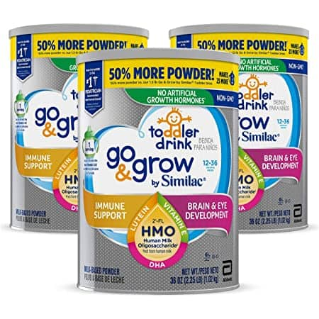 Go & Grow by Similac Toddler Drink, 3 Cans, 50% off + Subscribe $28.51