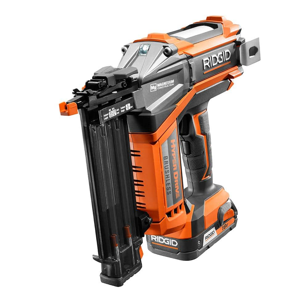 Ridgid 18 Volt Brad Nailer Kit (18 Gauge) - Factory Blemished $160