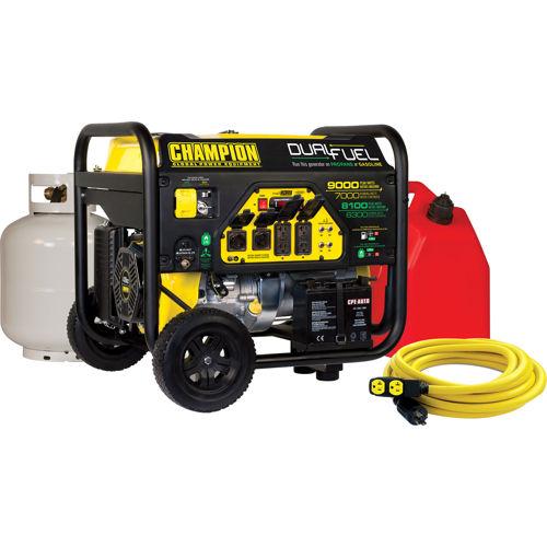 Champion 7000W Dual Fuel Generator with 25' 30 Amp Cord $599.99 At Costco B&M and Costco.com