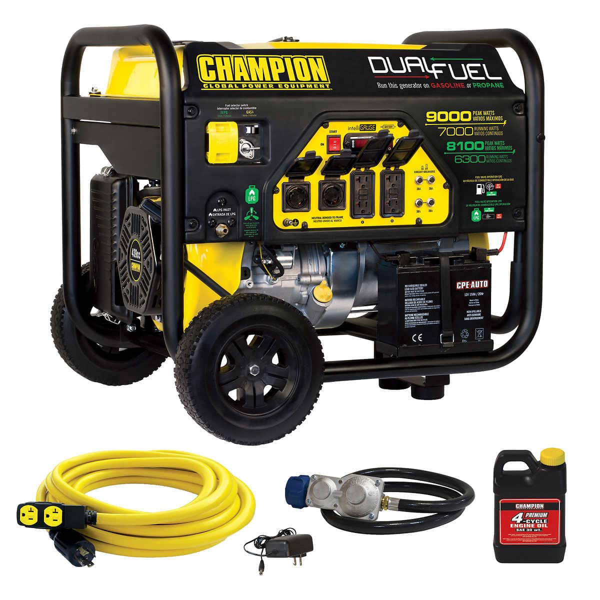 Champion 7000W Dual Fuel Generator with 25' 30 Amp Cord $549.99 online or $499.99 (YMMV) In Club