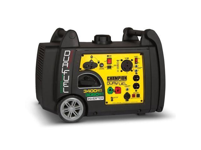 Champion 3400-Watt Portable Dual Fuel Inverter Generator $892 AC at Newegg.com