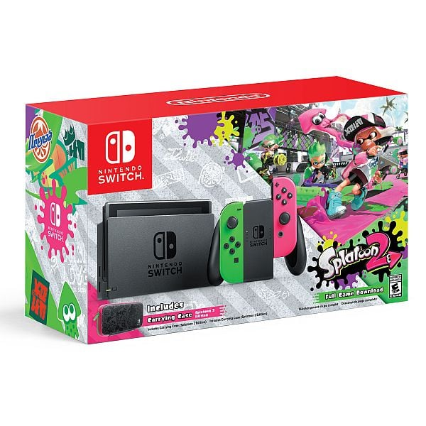 Nintendo Switch Walmart Exclusive Console w/ Splatoon 2 + Neon Green/Neon Pink Joy-Cons In Stock $380 + Free Shipping