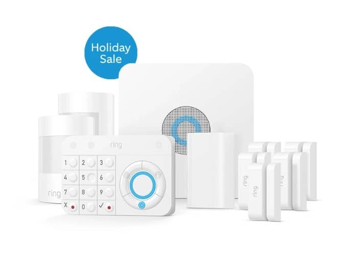 Ring Alarm Security Kit, 14 piece for $229. Ring Alarm Security Kit, 10 piece for $179. Ring Alarm Security Kit, 5 piece $139